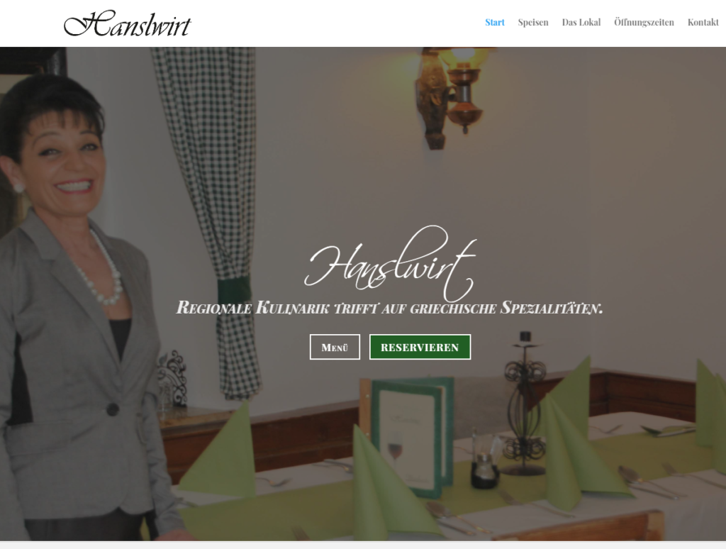 Screenshot Website Hanslwirt