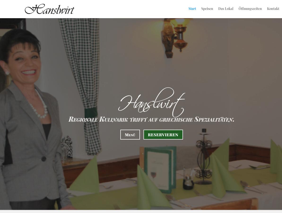 Gasthaus Hanslwirt | Website
