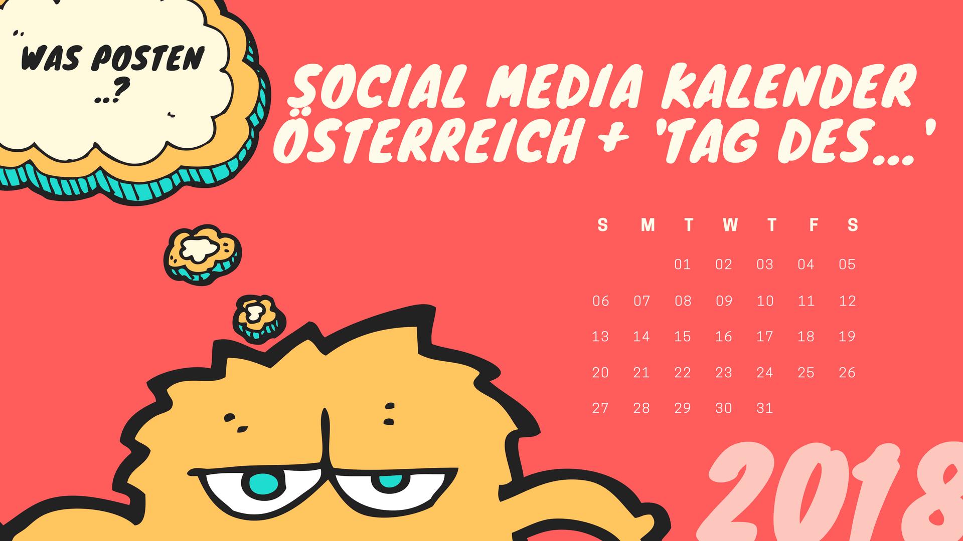 Social Media Aktionstage – Feiertage – Events in Österreich
